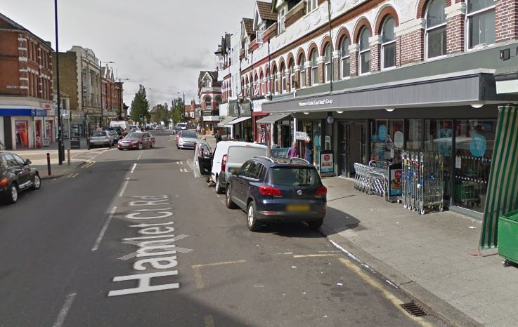Person hit by car in Westcliff