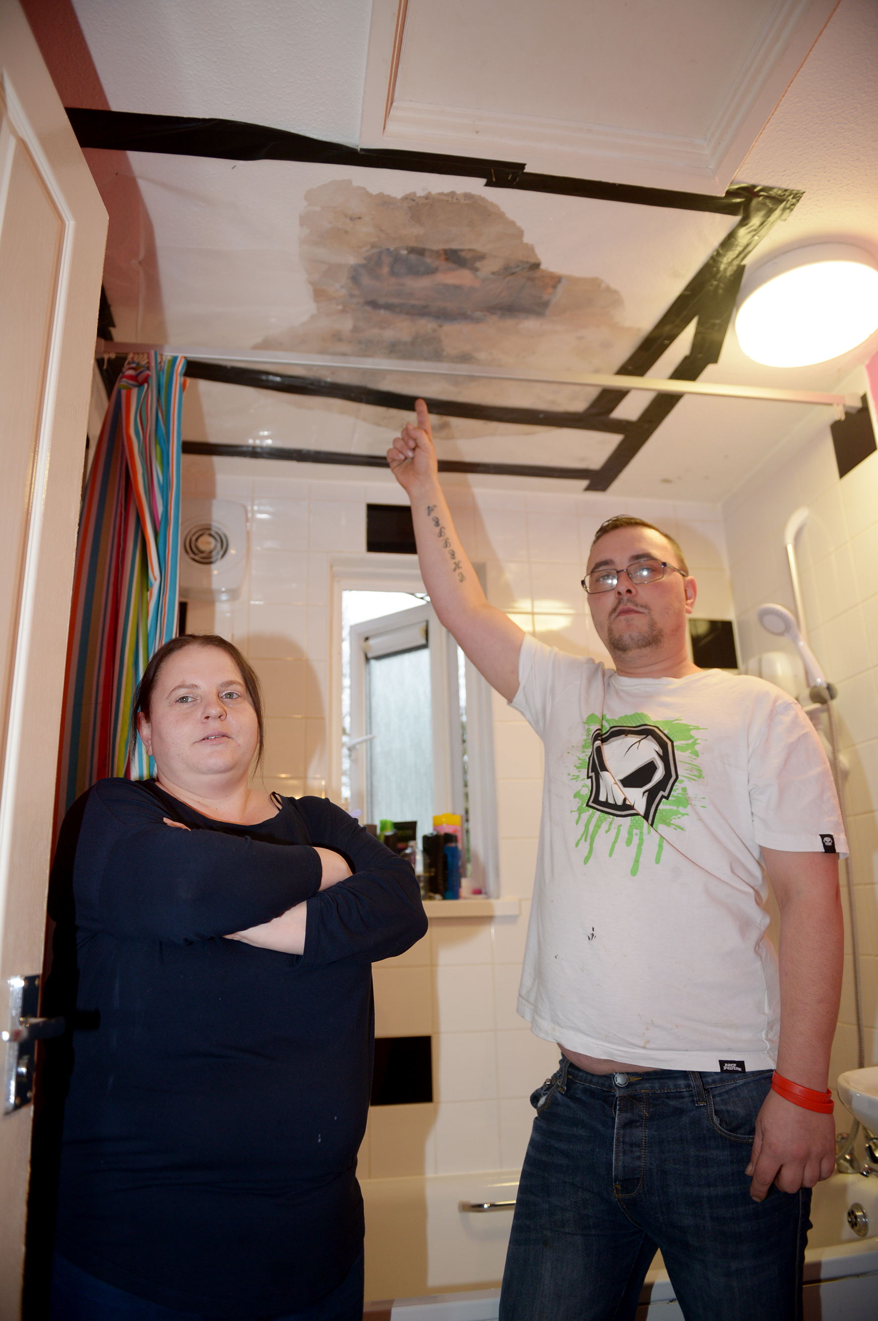 Missing tiles leads to ceiling collapse