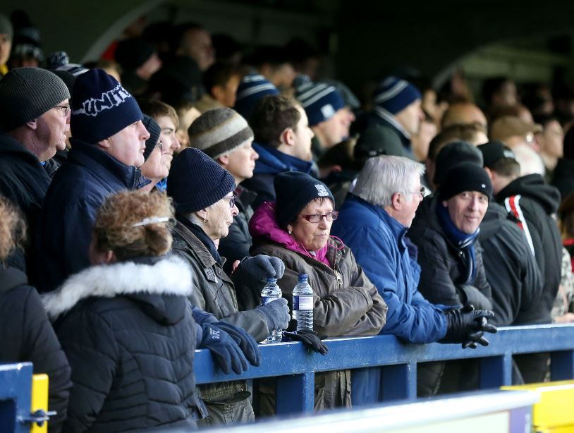 Frustrated - Southend United fans at AFC Wimbledon
