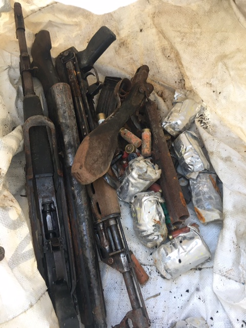 AK47s and explosives found in derelict building