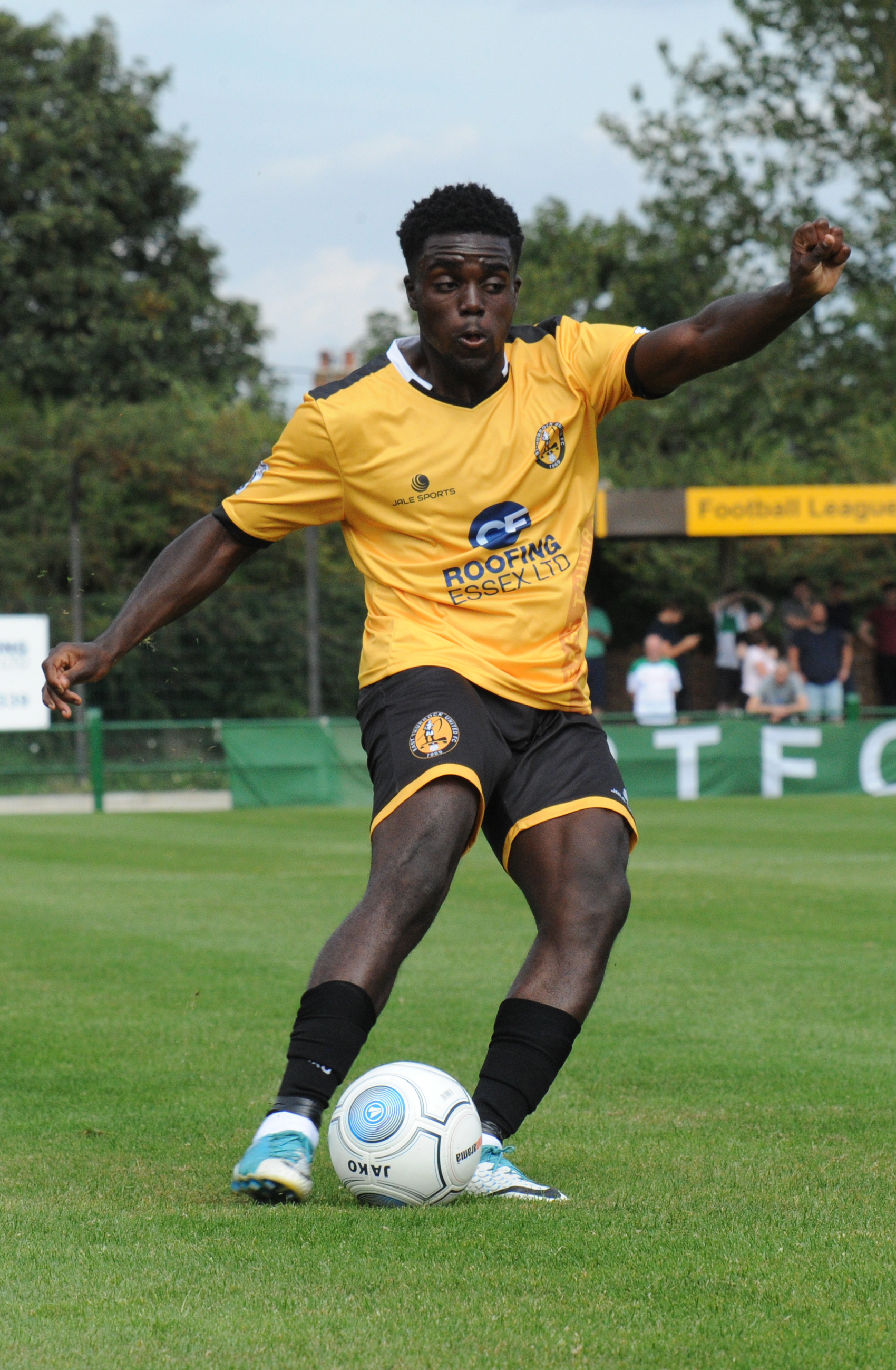 Winner - Montel Agyemang scored the winner for East Thurrock in the quarter-final