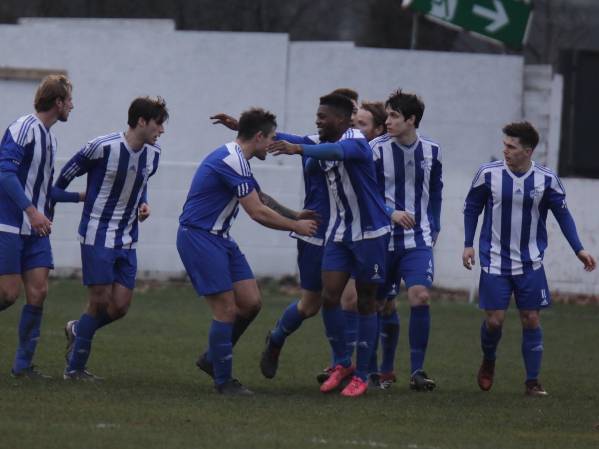 What a moment - Mickey Cooke scores Hullbridge's second goal and celebrates Picture: NEIL HUNWICKS