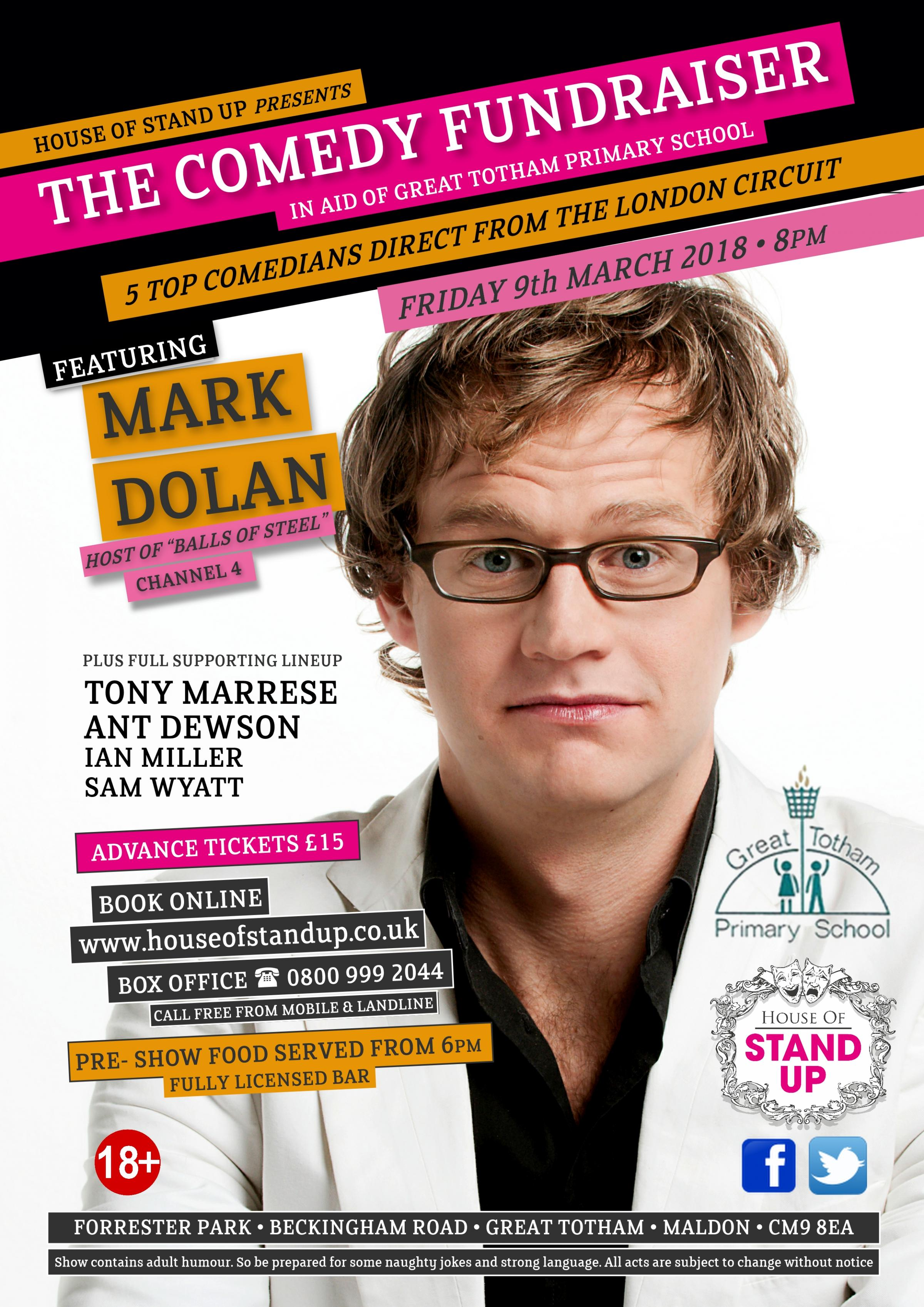 House of Stand Up Presents 'The Comedy Fundraiser'