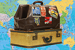 Echo: Suitcases with Map