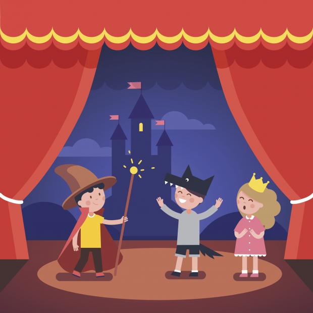 Echo: Undated generic illustration of children's theatre. See PA Feature FAMILY Theatre. Picture credit should read: Thinkstock/PA. WARNING: This picture must only be used to accompany PA Feature FAMILY Theatre.