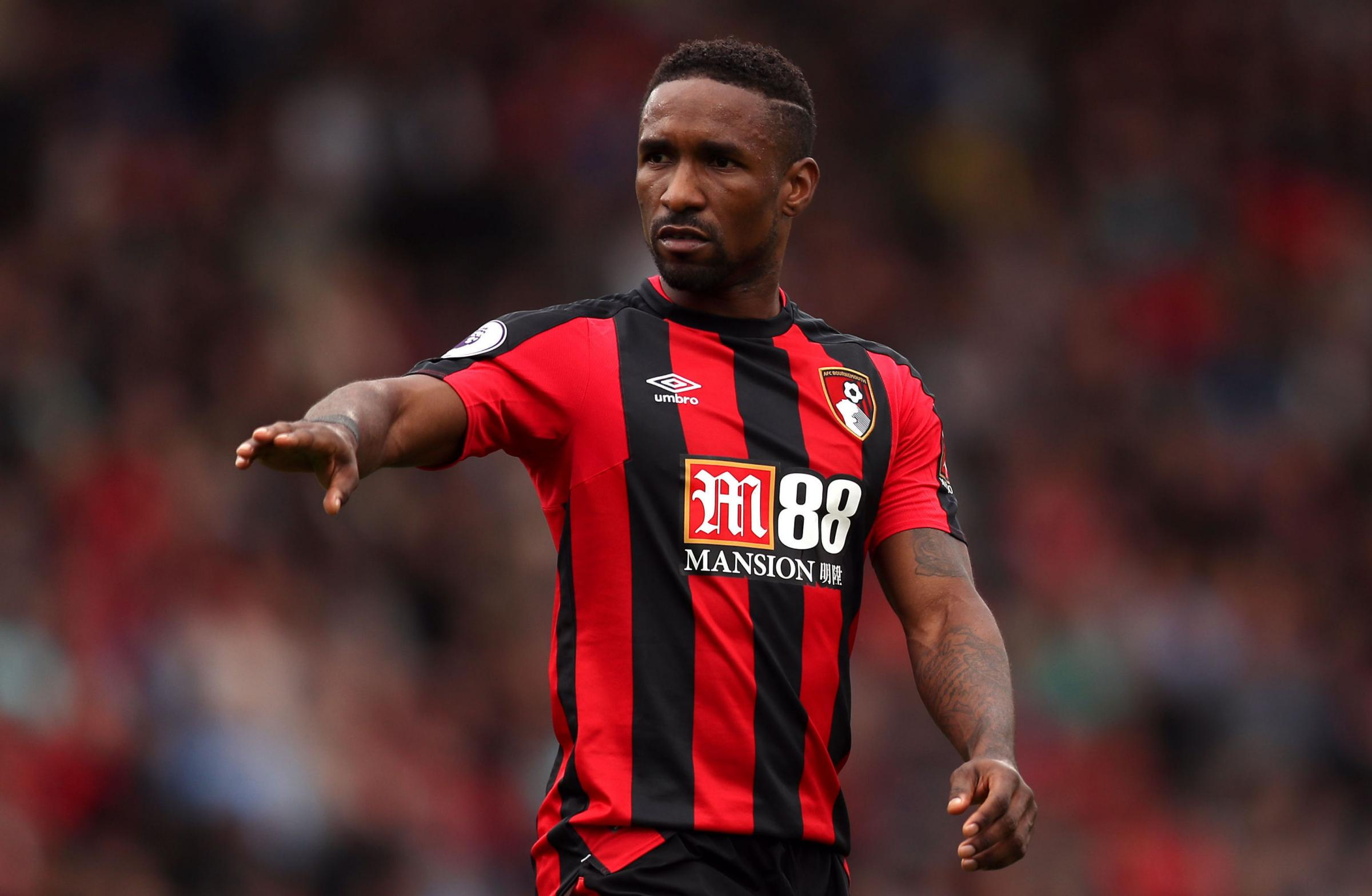 Footballer Jermain Defoe playing for Bournemouth