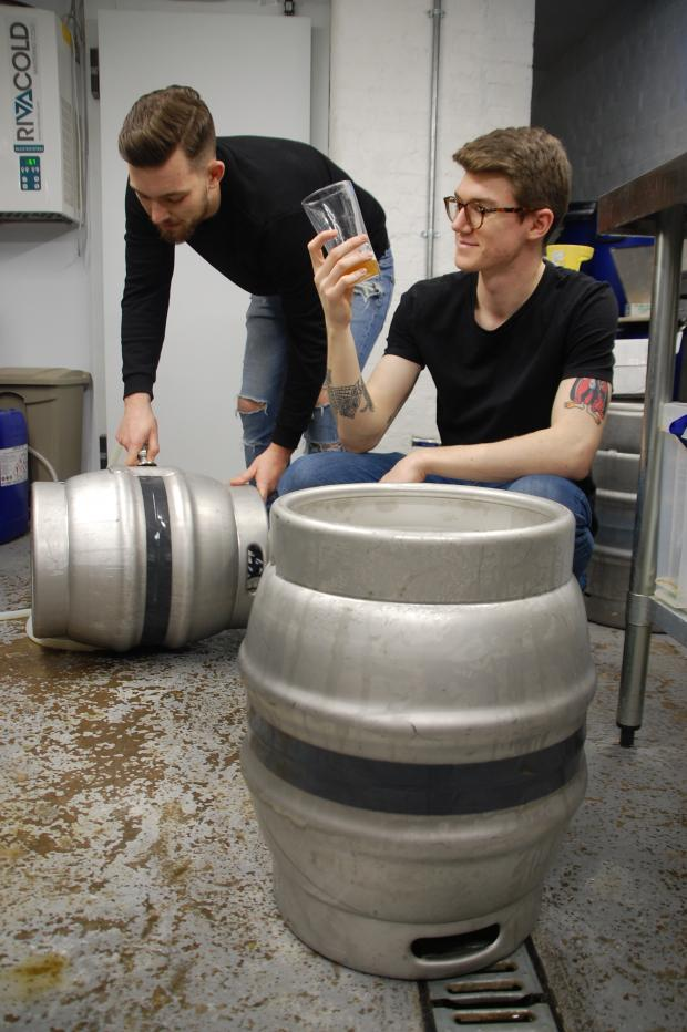 Echo: Jack Snell and Aidan Kerins in Other Monkey Brewery