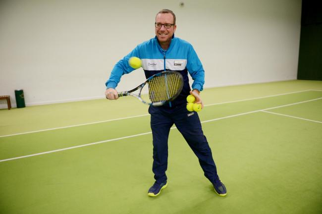 Determined - new head tennis coach Jon Lee