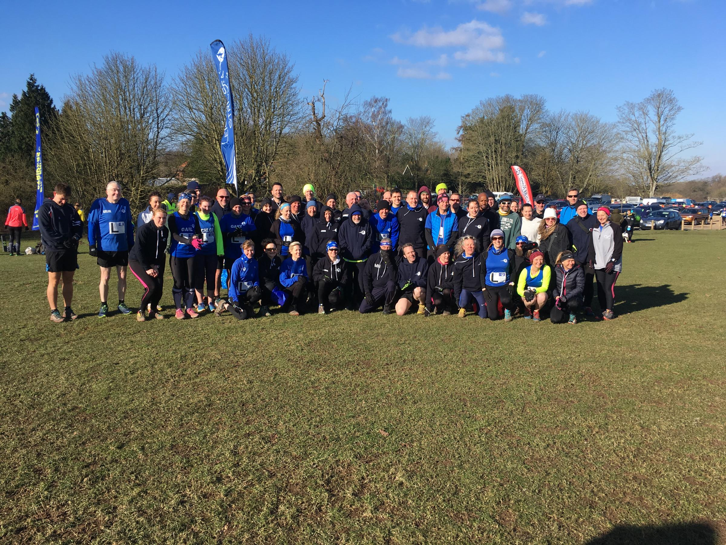 Completing the campaign - Leigh Striders boasted 55 members at the final fixture of the South Essex Cross Country League season