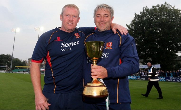 Successor - Anthony McGrath, left, has replaced Chris Silverwood as Essex's head coach			        Picture: TGSPHOTO