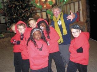 Members of Wiggles Dance Club with Bill Oddie