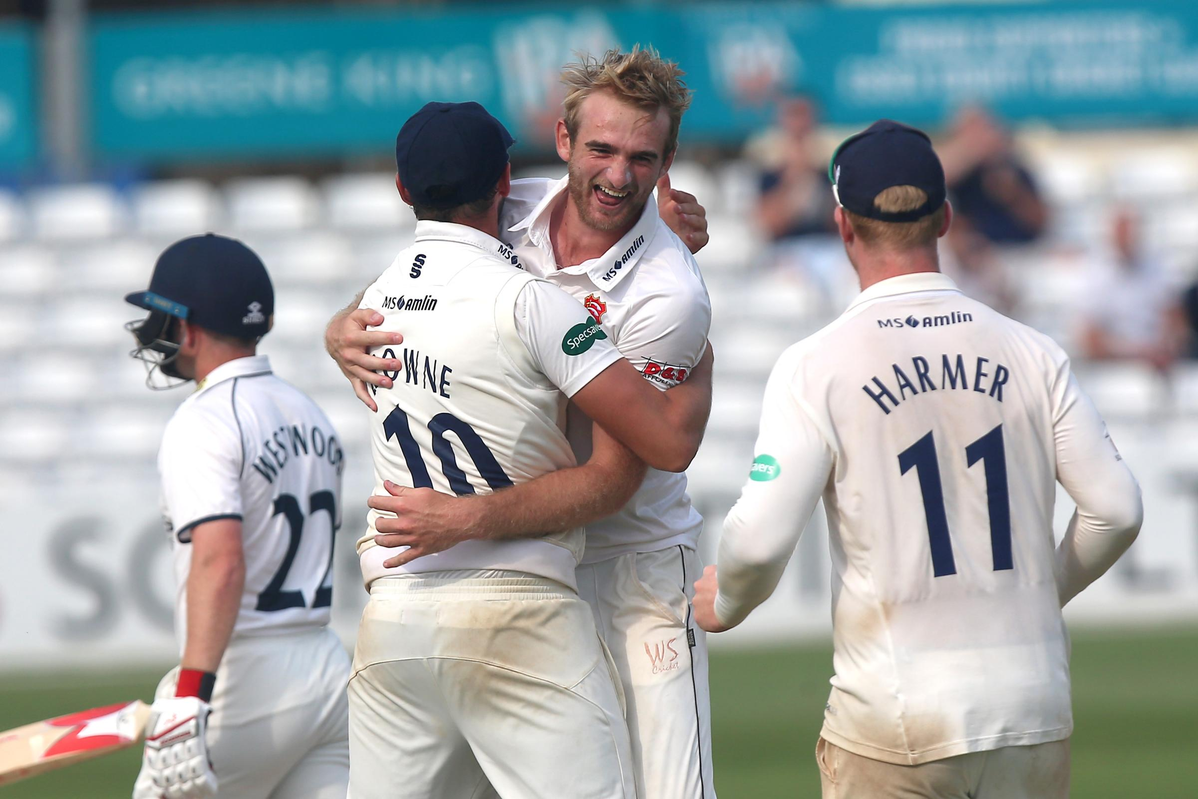 Key involvement - Essex seamer Paul Walter took two wickets for the South in the North-South Series match 	           Picture: TGSPHOTO