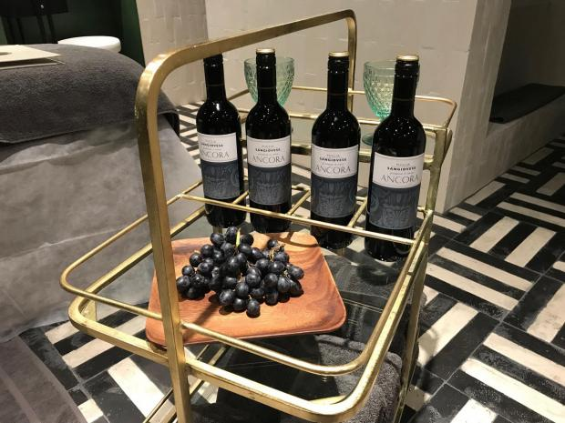 Echo: Undated Handout Photo of the wine that goes into the wine spa treatment at Ella Di Rocco Medispa in London. See PA Feature TOPICAL Beauty Wine Spa. Picture credit should read: PA Photo/Handout. WARNING: This picture must only be used to accompany PA Featu