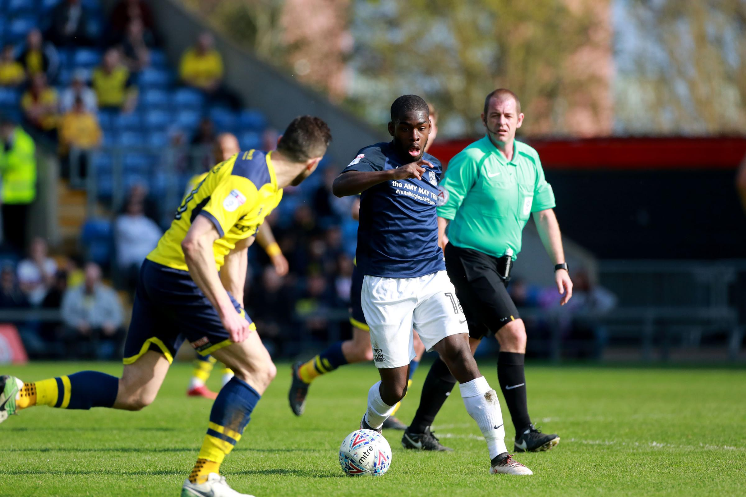 Back in action - Southend United midfielder Dru Yearwood