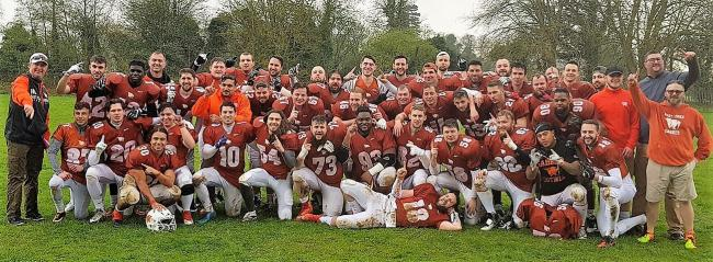 Triumphant - East Essex Sabres were comfortable winners against Maidstone Pumas  Picture: CLAIRE JACKSON