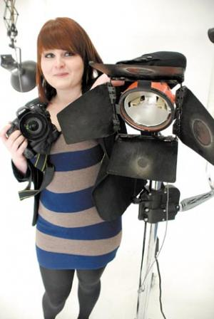 Picturing a bright future – Lizzie with her new camera