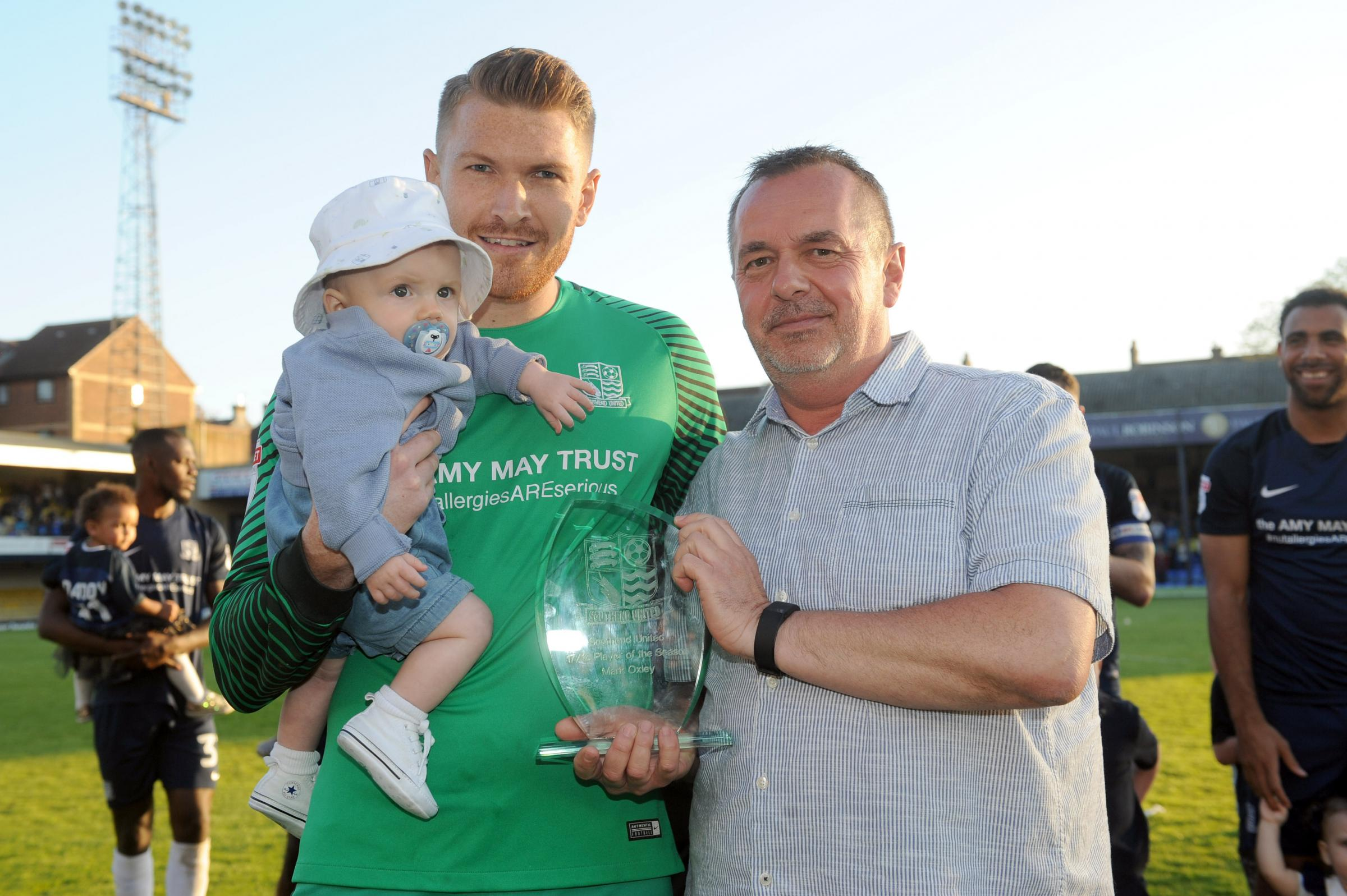 Key performer - Mark Oxley was named Southend United's player of the year