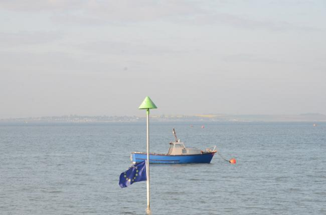 Lost at sea - 42 European flags were put out across the seafront
