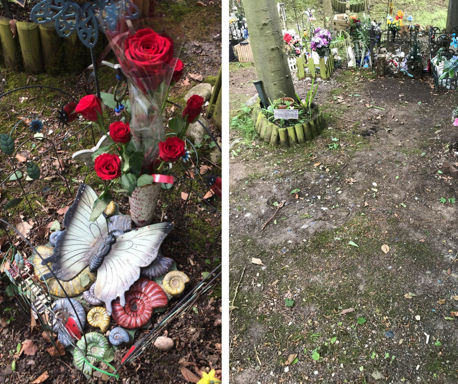 Child graves cleared of 'unofficial' items by council