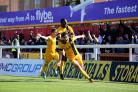 Memorable moment - Michael Timlin celebrates scoring at Exeter City