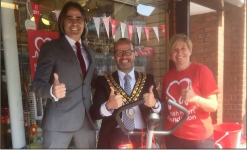 Mayor lends support to pharmacy's charity work