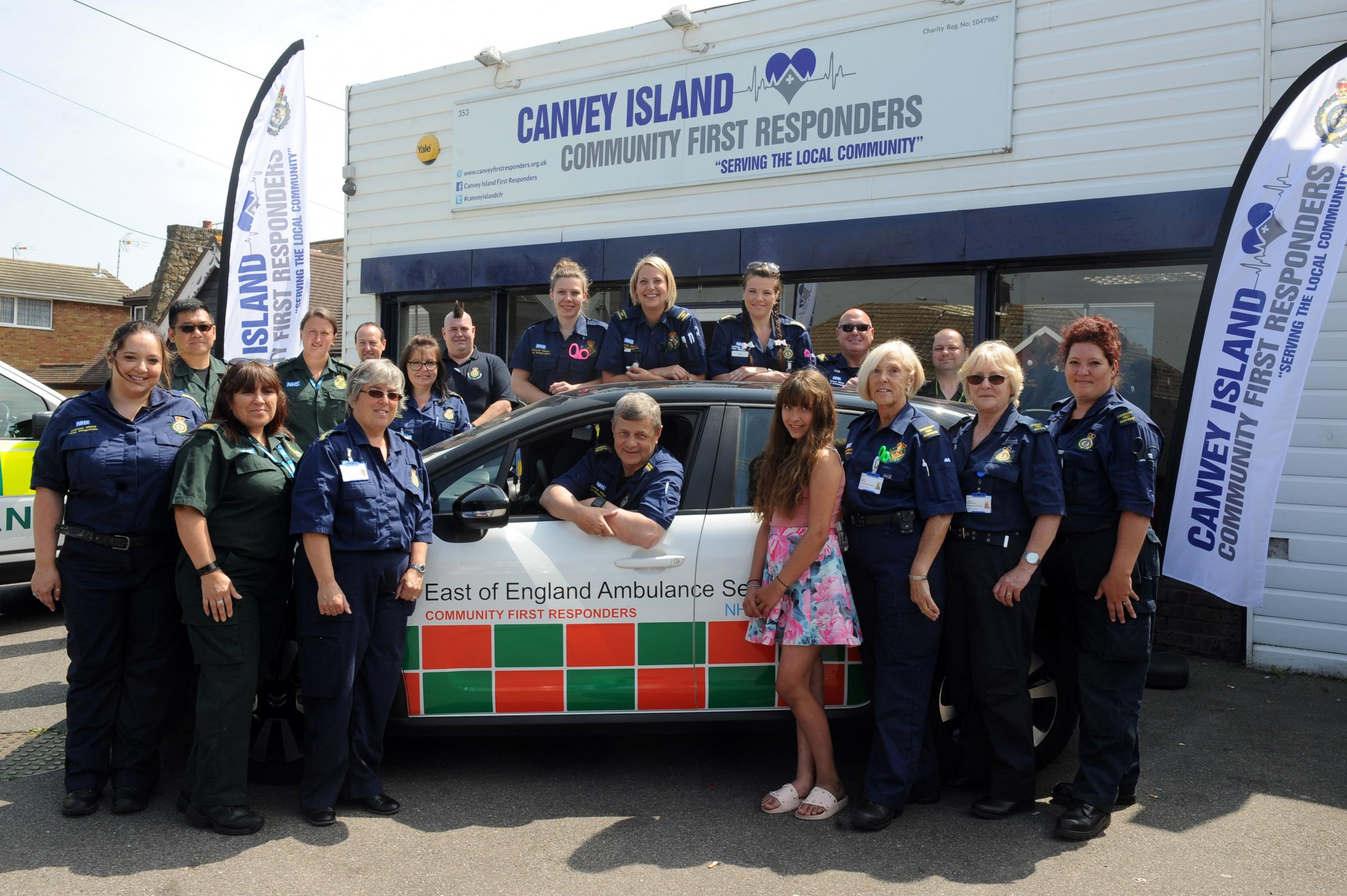 FDirst Responders celebrate the opening of their new centre on Long Road, Canvey. Pic LM 09/06/018