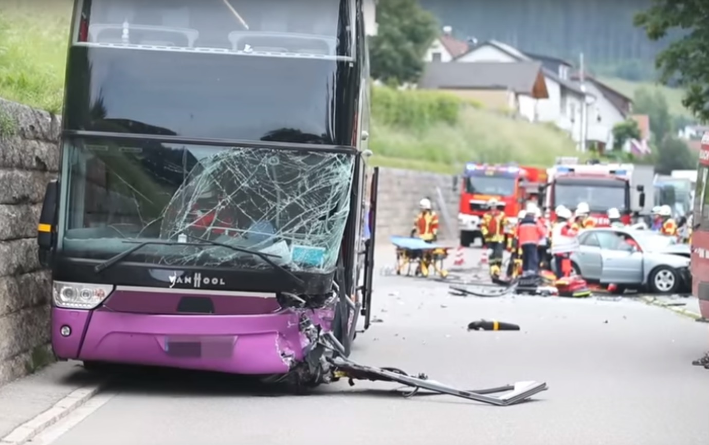 Southend High School for Girls bus crash (credit: youtube/ Schwarzwälder Bote)