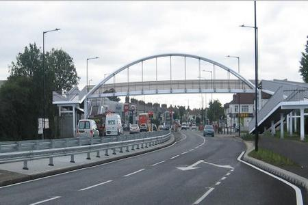 Stock image of Kent Elms junction before bridge came down