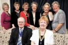 Deputy mayor Brian Smith with members Jean Quarmby, Maureen Downie, Jean Hastings, Jean Wallace, Shirley Lovick, Jean Farrall and Fay Byf