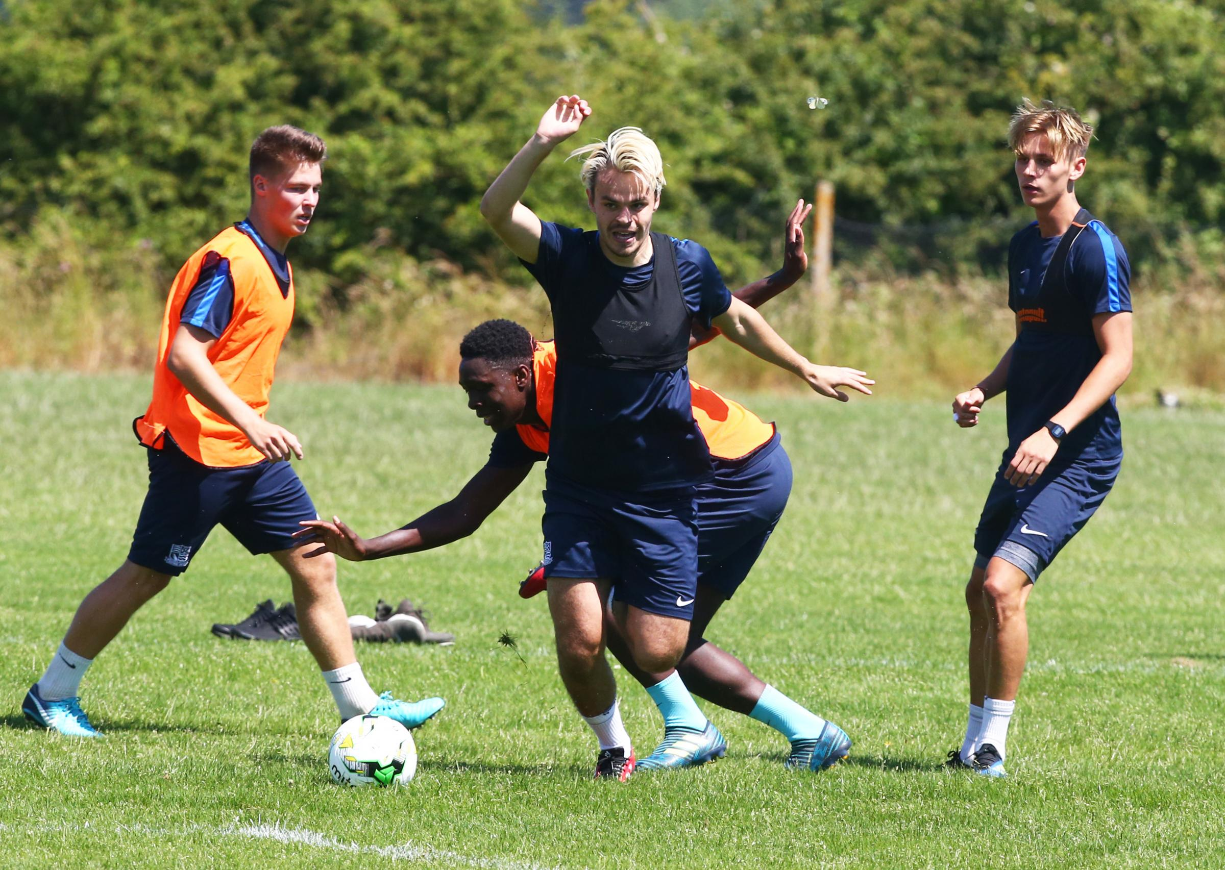 Hard at work - Southend United's under 23 team in training