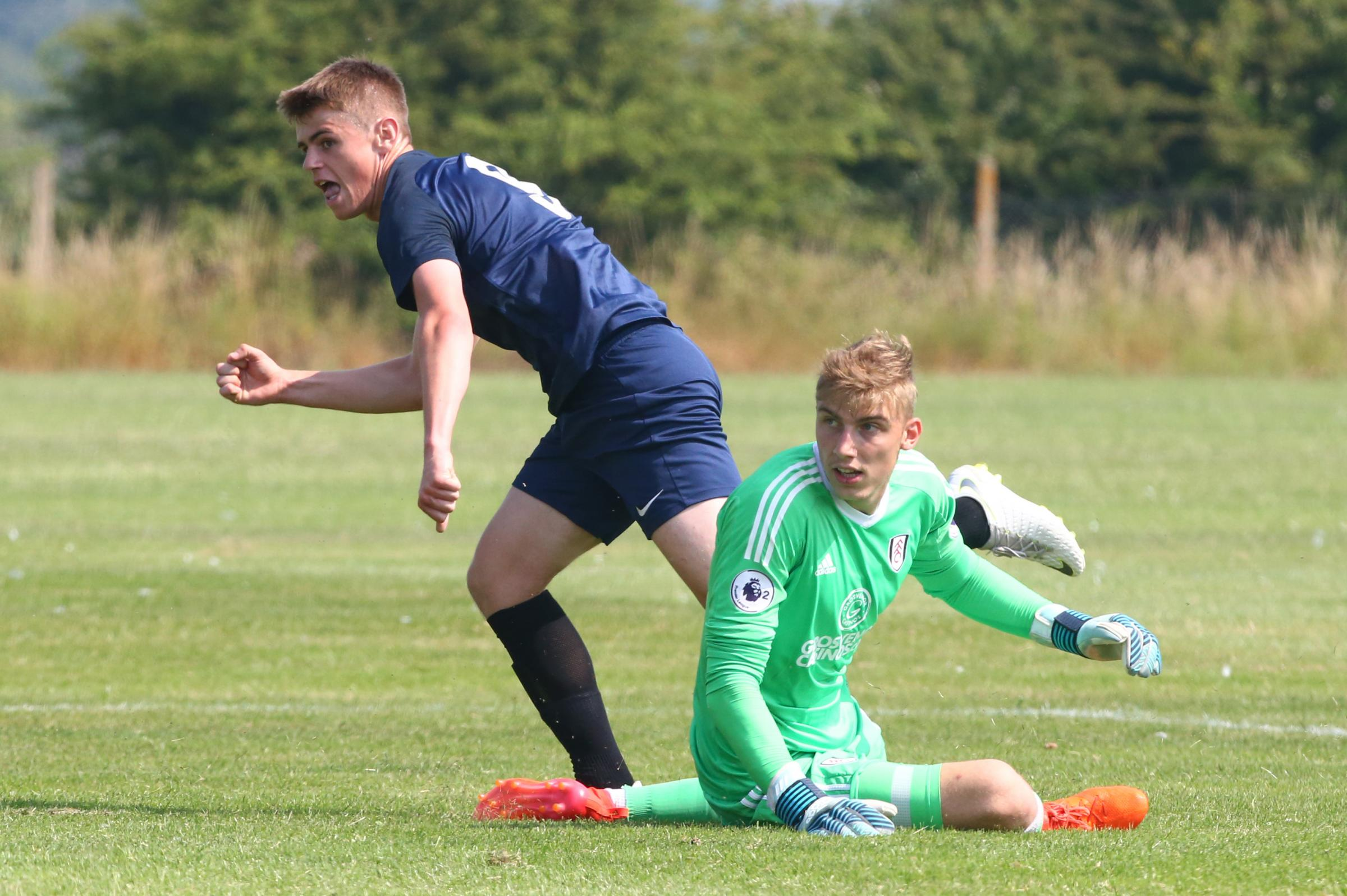 Firing home - Southend United youngster Charlie Kelman