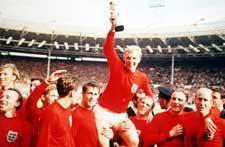 Echo: Bobby Moore and Co with the trophy at Wembley in 1966