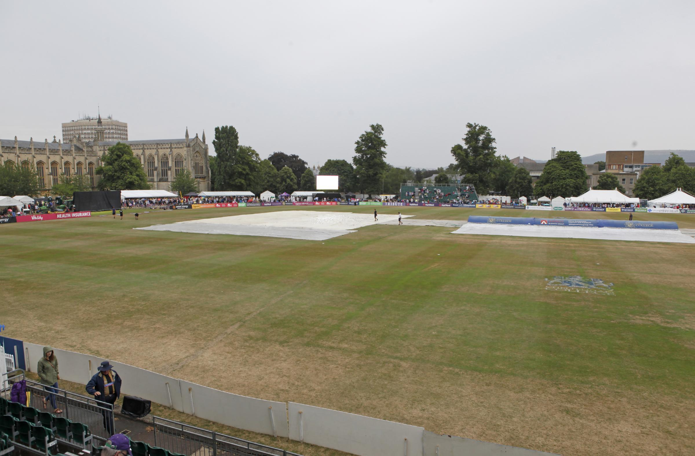 Damp - Essex were rained off at Gloucestershire Picture: TGSPHOTO