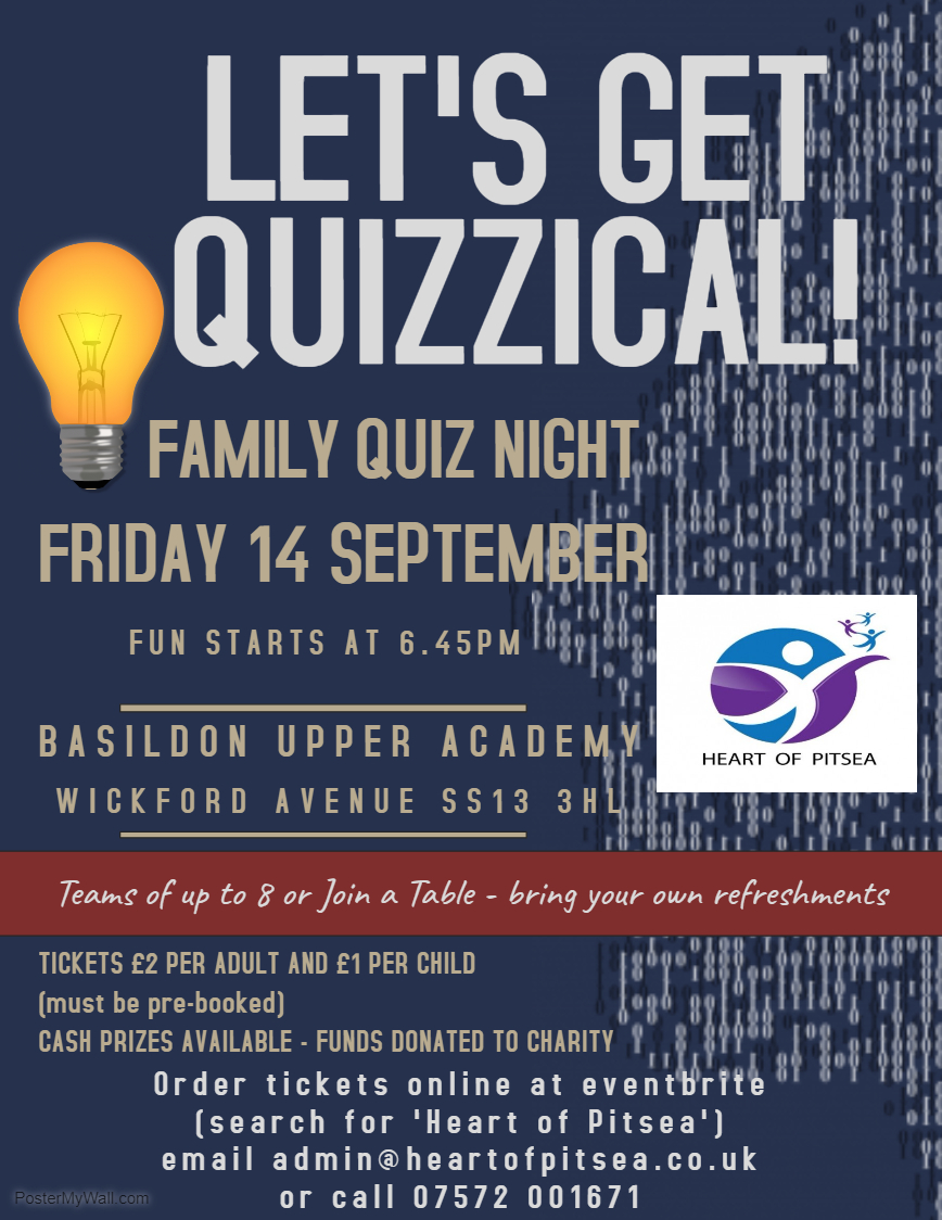 Heart of Pitsea Let's Get Quizzical Quiz Night