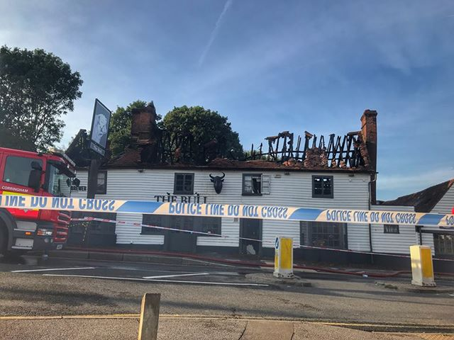 Fire in early hours causes severe damage to popular pub. Photo: www.kerrygreenphotography.com