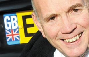 Echo: Proud to be British - MP Bob Spink with his Union Flag licence plate