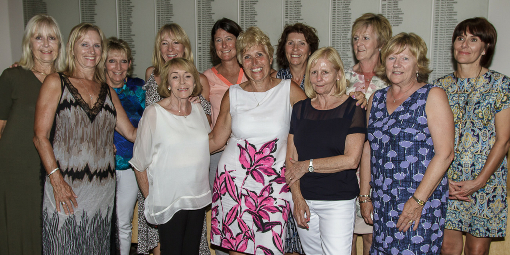 Well-contested - Boyce Hill Golf Club lady captain Lou Daniels, centre, with the Ladies Summer Meeting prize winners