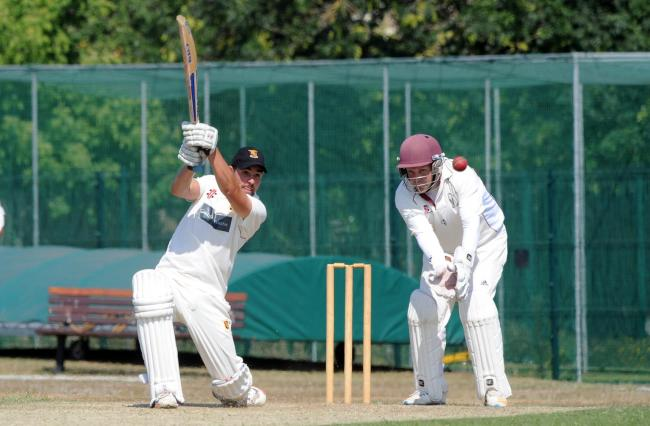 Important contribution - Dean Etchells, batting, top scored for Wickford against Leigh