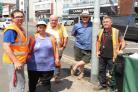 Summer fayre - volunteers get town ready for summer fayre