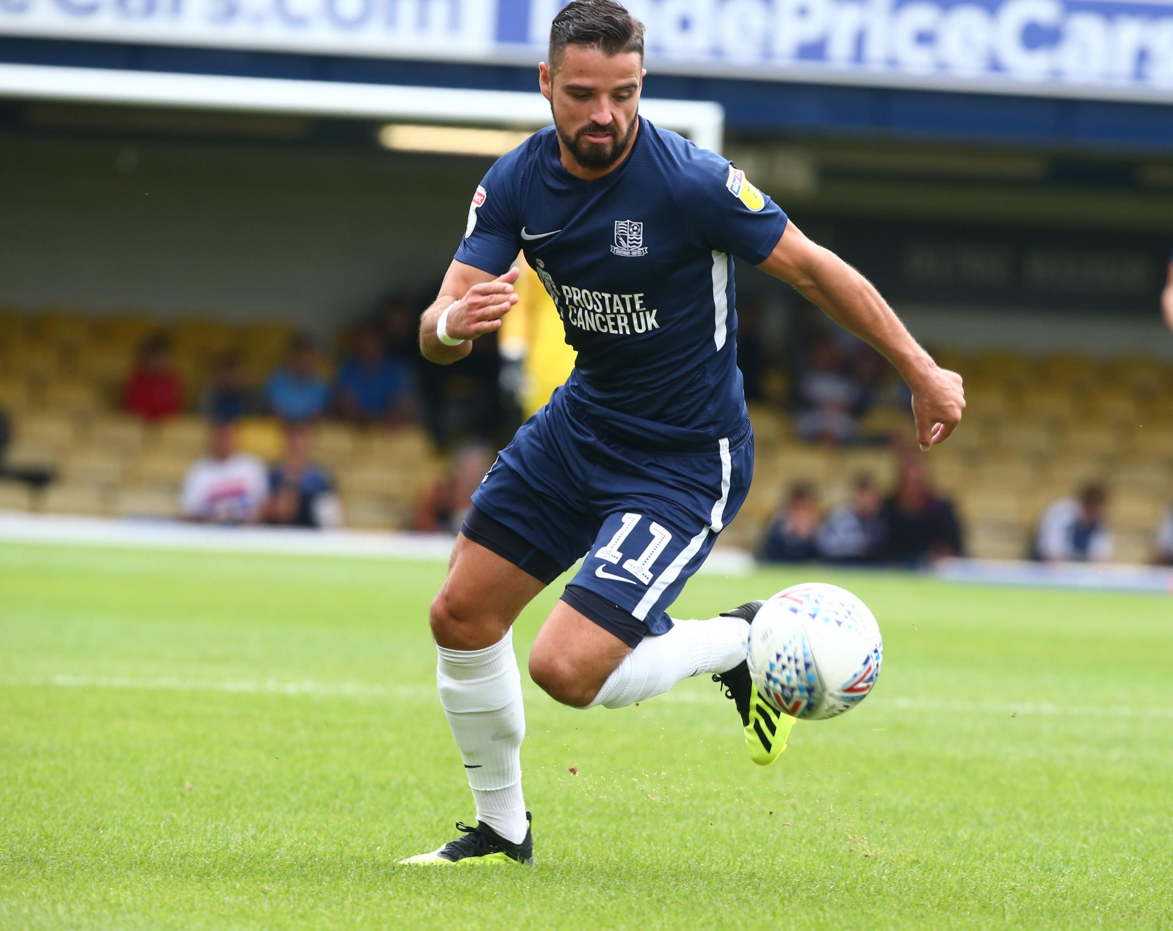 Not featuring - Southend United winger Stephen McLaughlin has not travelled to Blackpool