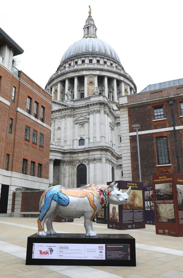 Echo: Undated Handout Photo of a rhino sculpture illustrated by Eileen Cooper. See PA Feature TOPICAL Travel Rhino Trail. Picture credit should read: PA Photo/Tim Whitby/Getty. WARNING: This picture must only be used to accompany PA Feature TOPICAL Travel Rhino