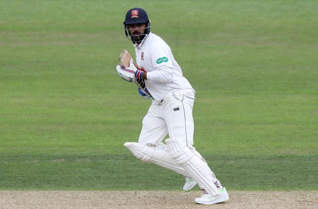 Mural Vijay of Essex in batting action during Nottinghamshire.