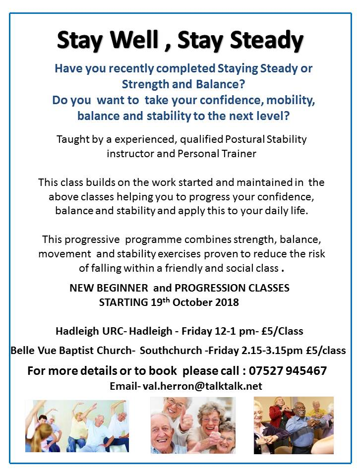 Stay  Well Stay Steady -New Class