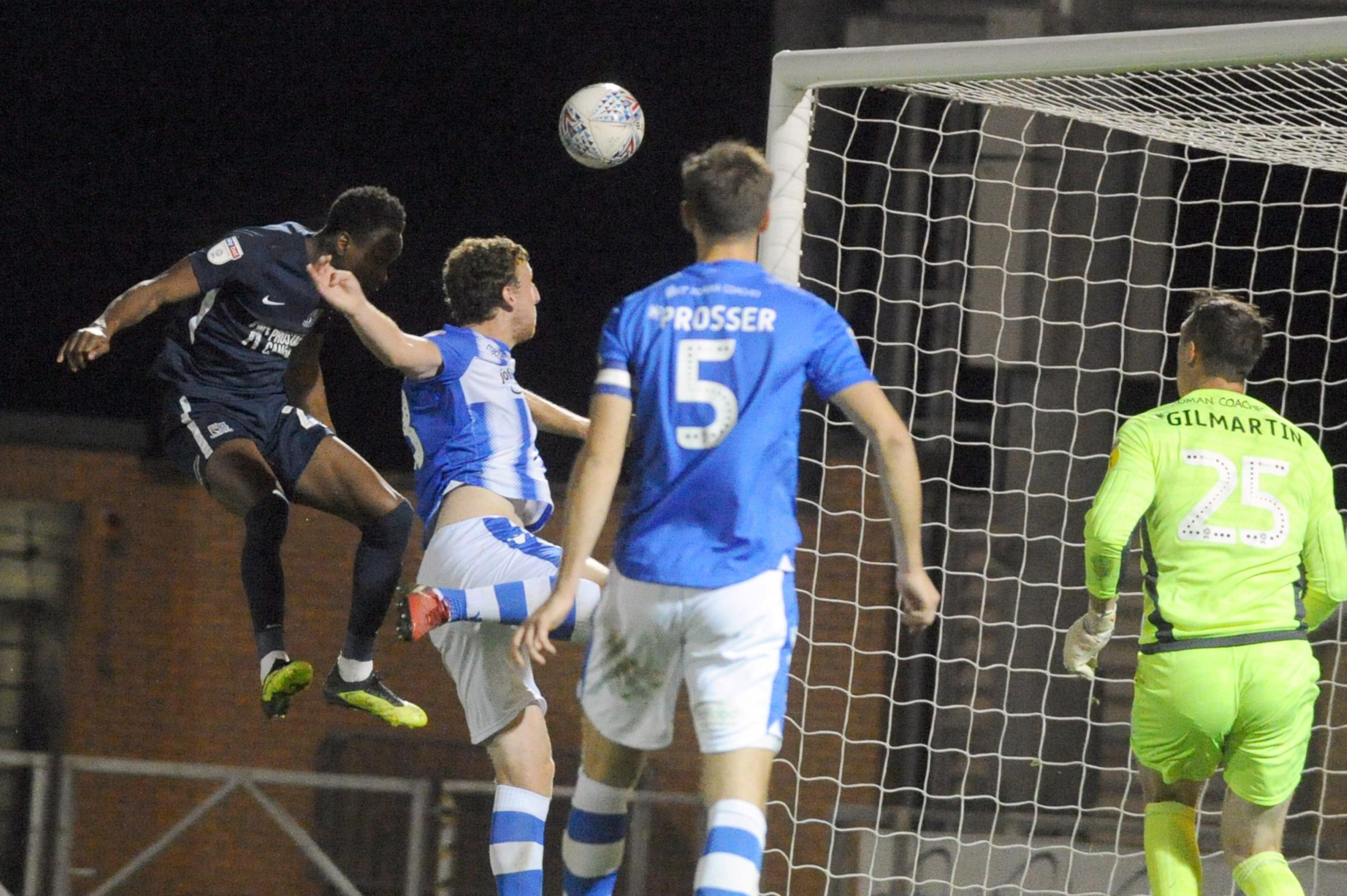 Going close - Shawn McCoulsky heads over for Blues