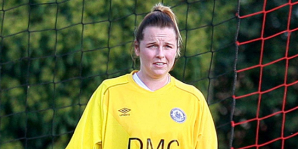 Donning the goalkeeper gloves - Nicole Farmer   Picture: NICKY HAYES