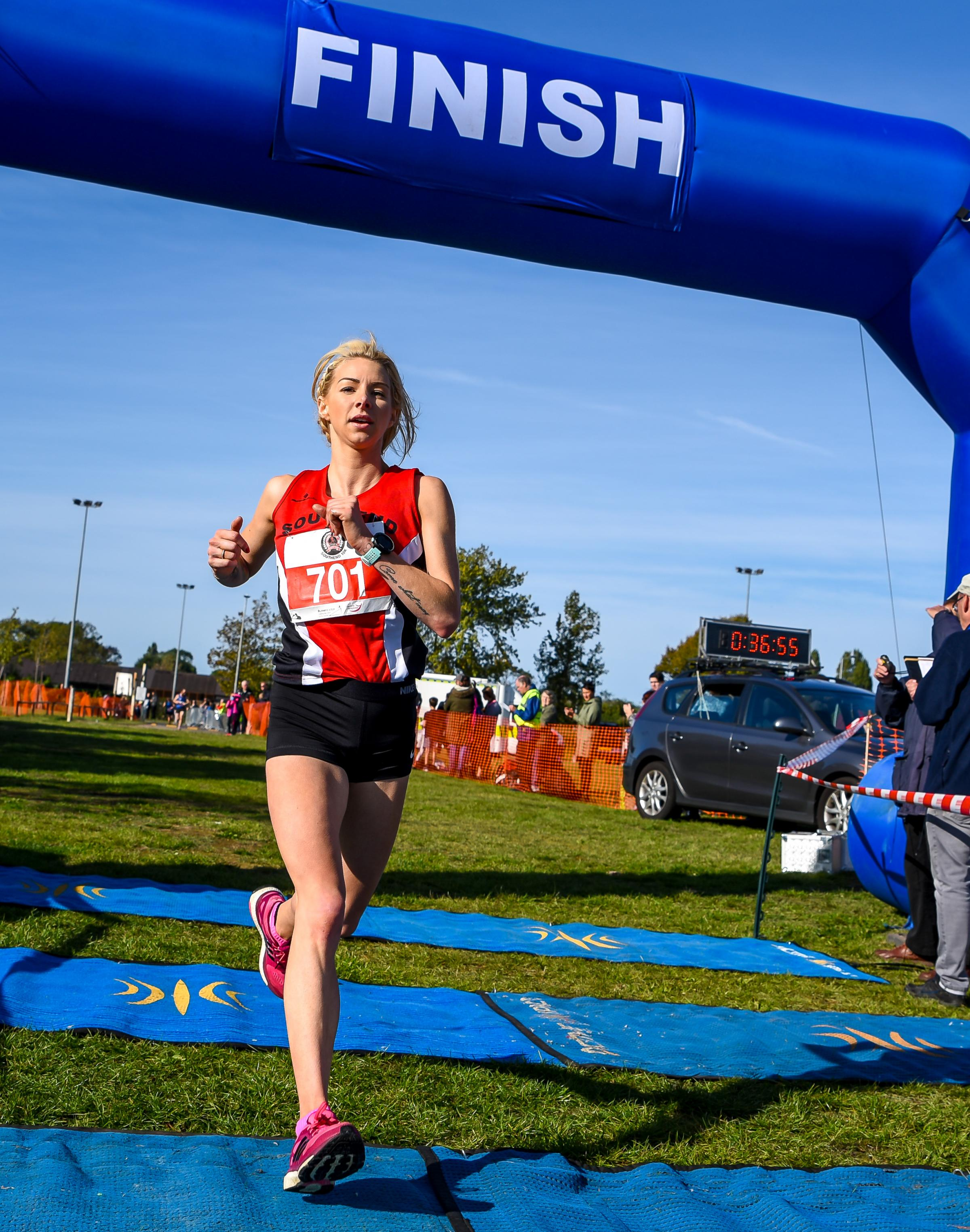 Winner - Kerry Holland sped to success at the Southend 10k