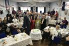 Tea party - Sir David Amess MP hosted his annual centenarians tea party at Iveagh Hall in Leigh