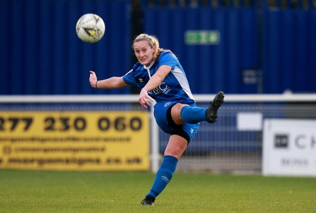 Making an impact - Danica Dougal has impressed since joining Billericay Town Ladies from C&K Basildon Ladies Picture: NICKY HAYES