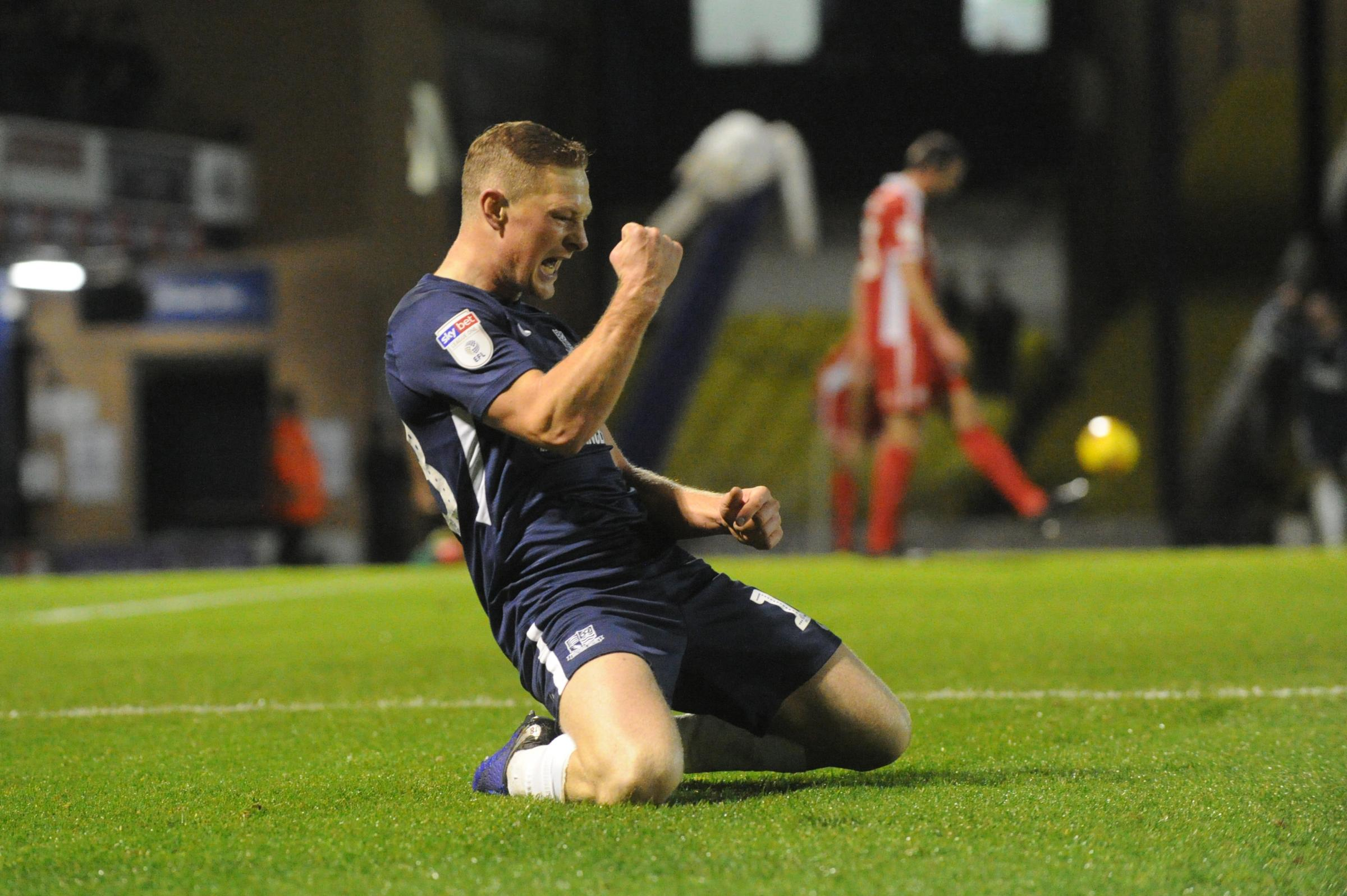 Happy - Southend United skipper Sam Mantom