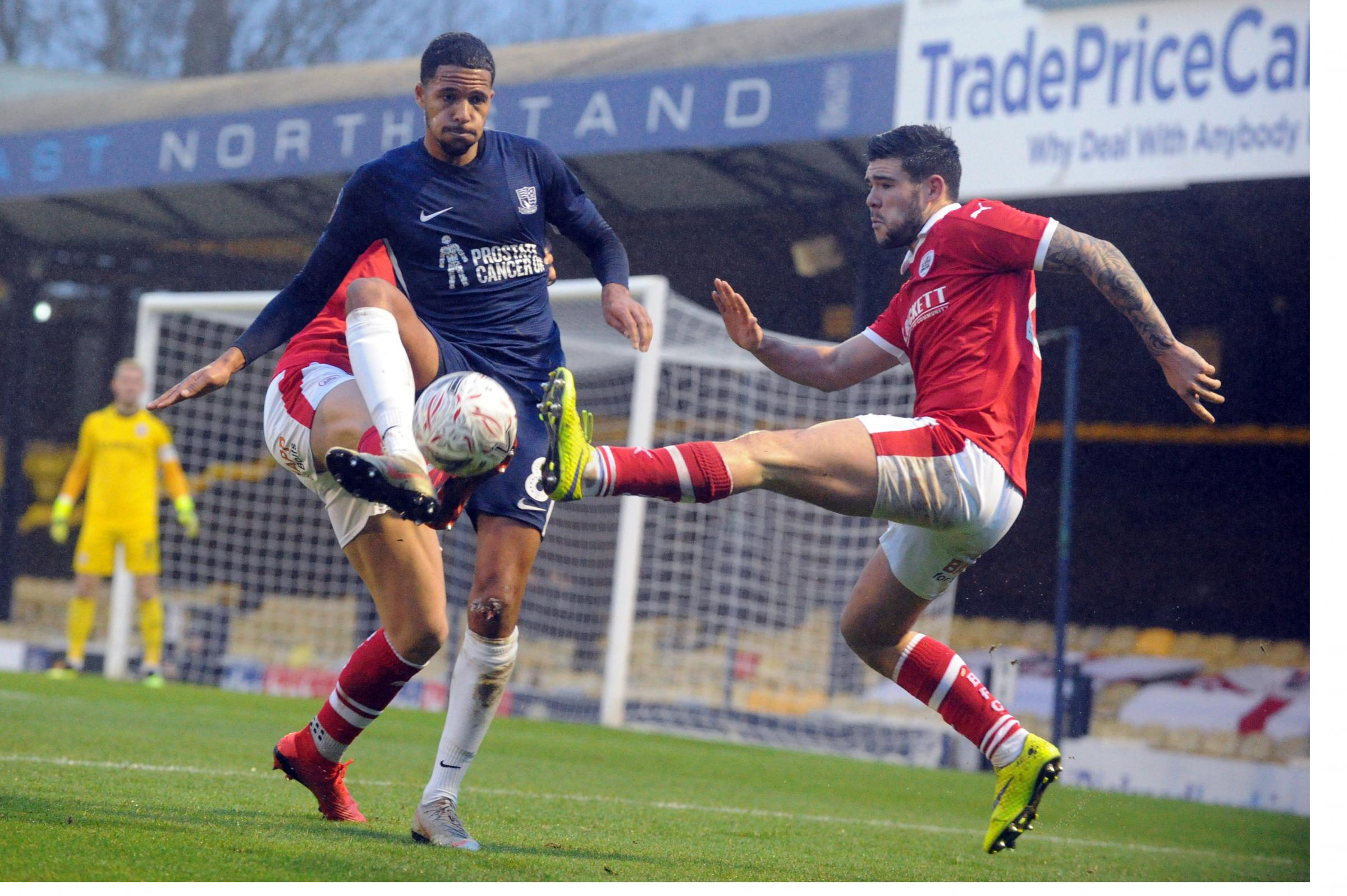 On the ball - Southend United goalscorer Timothee Dieng